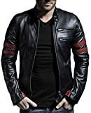 Laverapelle Men's Genuine Lambskin Leather Jacket (Black, Biker Jacket) - 1501535