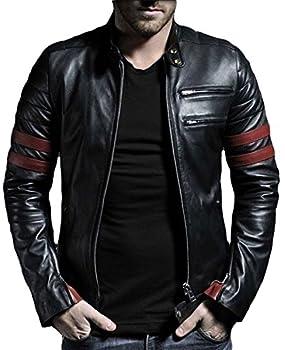 Laverapelle Men s Genuine Lambskin Leather Jacket  Black Small Polyester Lining  - 1501535