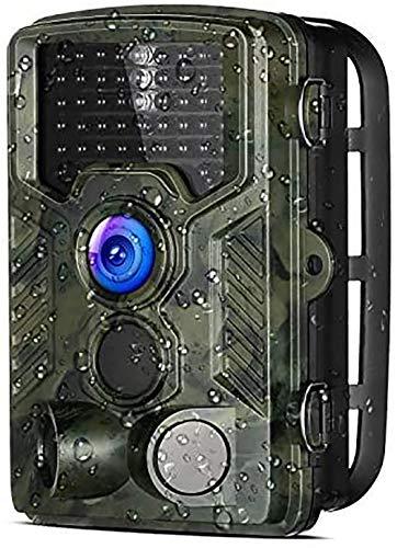 Cámara de Caza Aidodo 16MP Trail Cámara 1080P HD Cámara Nocturna Caza 46 IR Cámara de Vigilancia con Sensor de Infrarrojos IP56 Impermeable Infrarrojo 120 Angulo Amplio Sensor de Movimiento