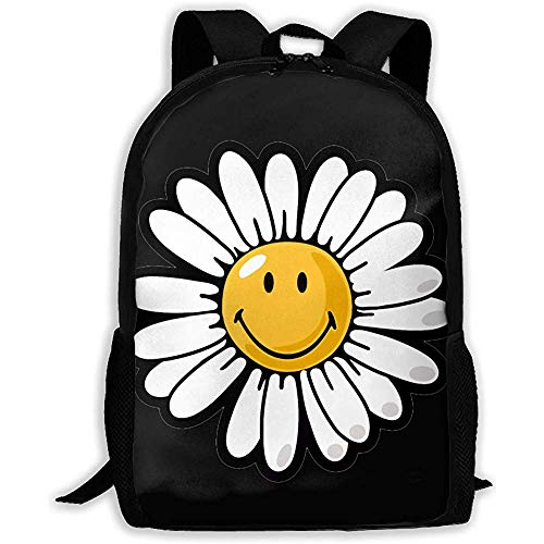 Kimi-Shop Mochila Escolar Smiley World Daisy Smiley 3D Adult Outdoor Leisure Mochila Deportiva