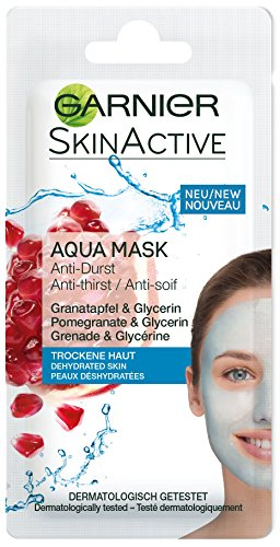 Garnier Skin Active Rescue Mask - Mascarilla Anti-Sequedad con Granada y...