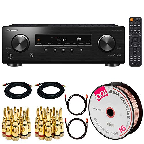 Purchase PIONEER VSX-834 7.2 Channel Dolby Atmos Networked AV Receiver Bundle with 100ft Speaker Wir...