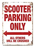 Faaca Scooter Parking Only Metal Wall Sign Plaque Mod Vespa Lambretta Moped