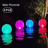 LED Luci Giardino Esterno,Luci piscina galleggianti IP68 Impermeabile Lampada solare 4 colori cambiano luci esterne del giardino del LED lampade Solari da Esterni Luci Solari da Giardino (4 PCS)
