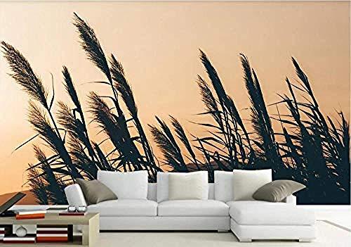 Muursticker behang 3D riet mooie moderne aangepaste muur muurschildering foto behang muurschilderingen -200cmx140cm