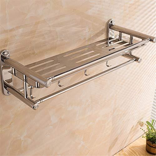 Salle de bain étagère Jamais la rouille SUS 304 en acier inoxydable porte-serviettes étagère de douche avec mural, rack inoxydable étanche en salle de bains / Cuisine Étagères de rangement pour chambr