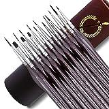 Apolo Arte Set Pennelli Per Dipingere - 15 Pennelli Pittura Professionali Di Precisione | Pennello...