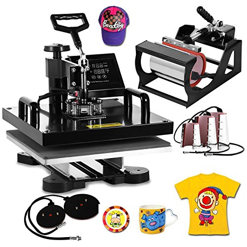 VEVOR Heat Press Machine15x15inch 8 in 1 Digital Multifunctional Sublimation Auto-Countdown Heat...