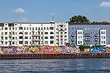 Pixblick - Häuser, Mauer und Spree in Berlin -