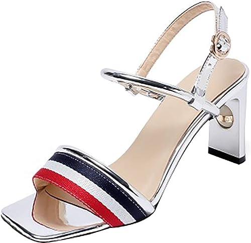 Calaier Calaier Femme meifuli 7CM Bloc Boucle Sandales Chaussures  meilleure offre