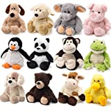 Peluche térmico de Cozy Plush, se puede calentar en el microondas, suave y cálido, para niños mono