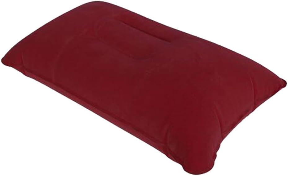 New Inflatable Pillow Travel Air Cushion Camp Beach Car Plane Head Rest Bed Sleep-Dark Blue