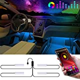 Led para Coche,Eletorot Tiras LED Coche con APP Control Luces Led Coche Interior Coche Multi DIY Color para Car Led Decoración Accesorios Coche Iluminación
