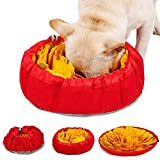 LIVACASA Alfombra Olfato Perro Mascotas, Snuffle Mat, Juguete de Inteligencia para Perros, Lavables a Máquina, Plegable Aviliable, Entrenamiento para Mascotas Pequeños y Grandes Amarillo y Rojo
