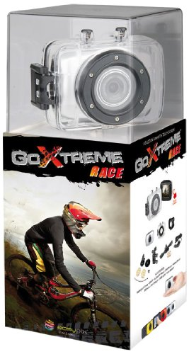 Easypix GoXtreme Race Action Cam (1,3 Megapixel Sensor, 4X dig. Zoom, 5,1 cm (2 Zoll) Touchscreen, USB 2.0) Silber