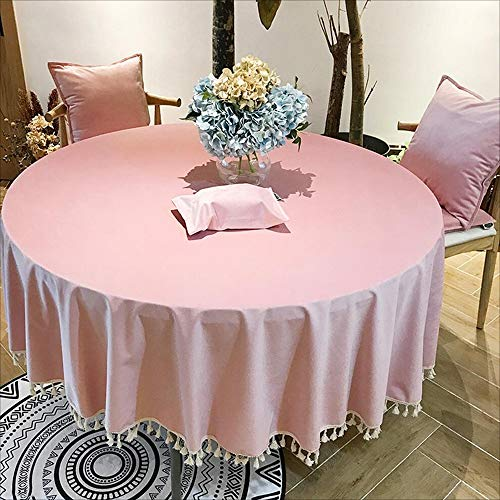 Samer Albergo rond tafelkleed, solide Conferentiekleuren, restaurant, tafelkleed, bruiloft, banquet, rond tafelkleed 160cm in diameter