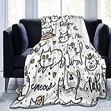 JOOCAR Mantas y mantas de franela manta para sofá/cama manta de felpa, felpa, felpa, mullida, regalo para bebé, niña, niño, papá y mamá