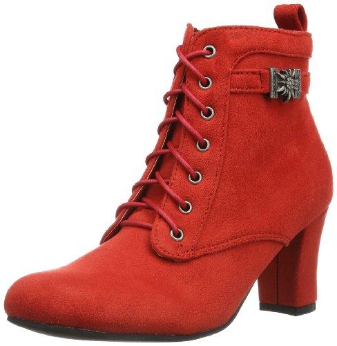 Hirschkogel Damen 3617400 Kurzschaft Stiefel, Rot (rot 021), 35 EU