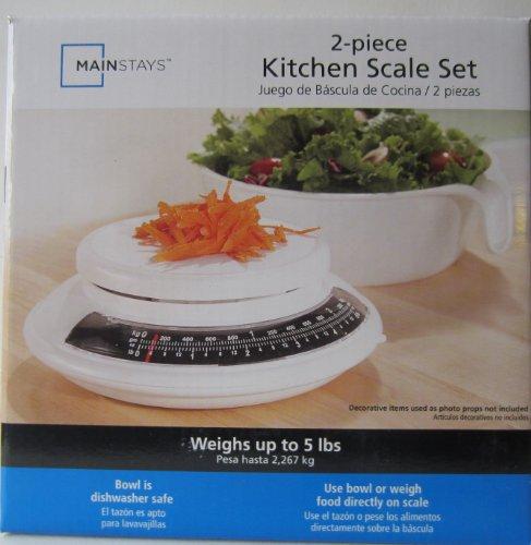 Mainstays 2-piece Kitchen Scale Set