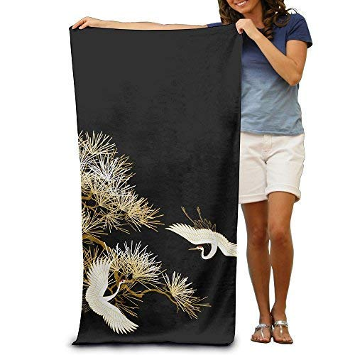 YUYUTE Toallas de Playa, Japanese Floral Pattern 100% Polyester Beach Towel Chair (31
