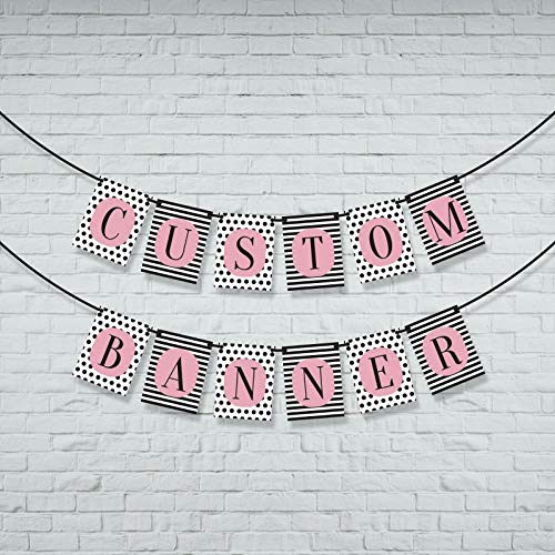 Custom banner. Personalized bunting. Customised personal banner with any message. Party decor