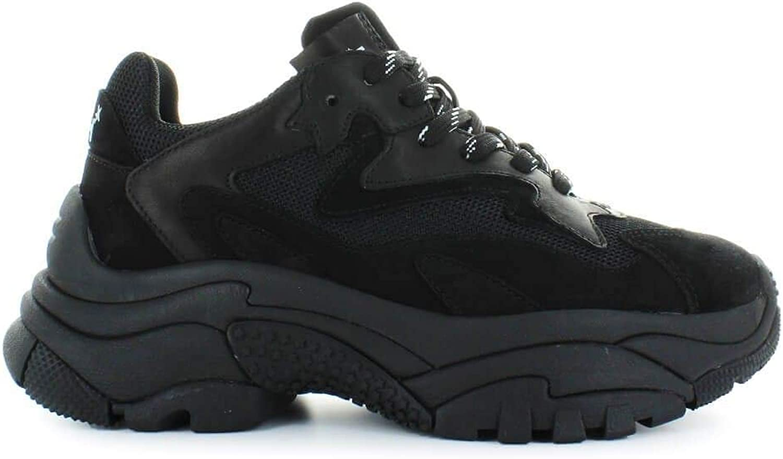 Ash Women's ADDICT03BLACK Black Leather Sneakers