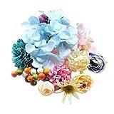 IPOTCH 30 x Diferentes Flores de Cinta para Ornamento de Proyectos de Artesanía DIY