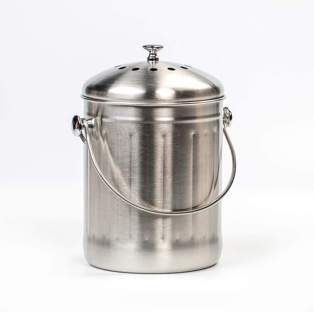 Lehman's Stainless Steel Kitchen Compost Max 62% OFF with Pail Brand Cheap Sale Venue Fil Odor Free