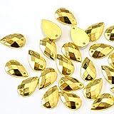 NLLeZ 200pcs 8x13m m del Color Oro en Forma de lágrima cose en el Rhinestone de Flatback de...