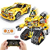 2-in-1 Build a Robot Kit,901 Pieces Remote & APP Controlled Robot & Car,Robotic Transformers Toys STEM Projects for Kids Ages 8 9 10 11 12+