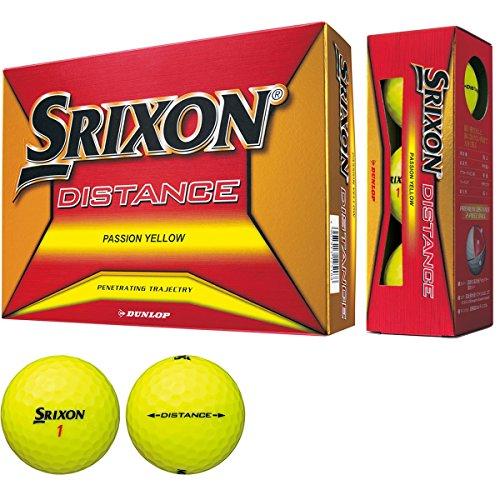 Dunlop (Golfball Srixon Distance Golfball 2018 Modelljahr 1 Dutzend (12 Stück) Passions gelb
