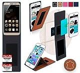 Hülle für Coolpad TipTop Max Tasche Cover Hülle Bumper | Braun Leder | Testsieger