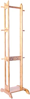 Amazon.com: Mei Xu Wooden Coat Rack,Full-Length Mirror ...