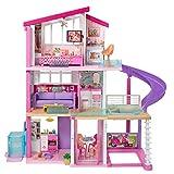 Barbie - Casa dei Sogni per Bambole, con Ascensore per Disabili, 3 Piani, Piscina, Scivolo...