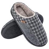 Josaywin Uomo Pantofole da Casa Ciabatte in Memory Foam Pantofole da Casa Invernali Ciabatte Comode per Interno Esterno Grigio 3940 EU