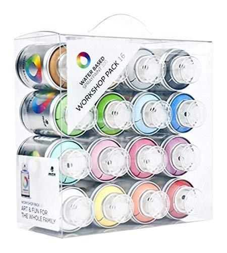 MTN Spray Paint Packs - Water Based 100 Workshop 16 Pack