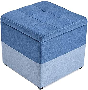 FJFDZ Ottoman Foot Stool Sofa Stool Shoe Bench Solid Wood Living Room Bedroom Simple and Stylish Multifunction Home Decorativ