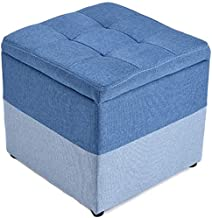 FJFDZ Ottoman Foot Stool Sofa Stool Shoe Bench Solid Wood Living Room Bedroom Simple and Stylish Multifunction Home Decora...