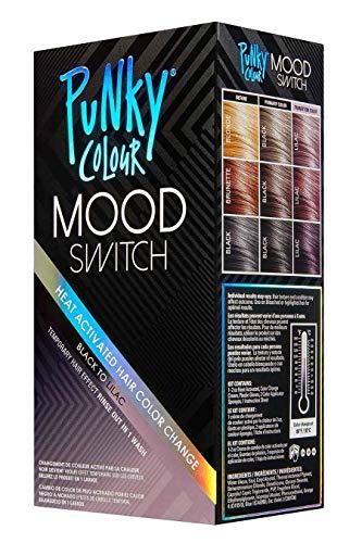 Punky Farbe Stimmung Schalter Hitze aktivierter Haarfarbe ändern, temporärer Haar-Effekt Schwarz Lila