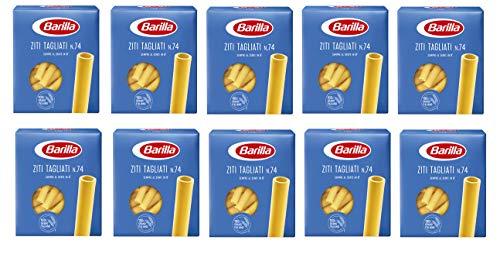 10x Pasta Barilla Ziti tagliati Nr. 74 italienisch Nudeln 500 g pack