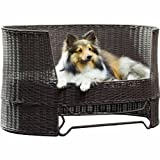 Refined Canine Wicker Dog Bed Image