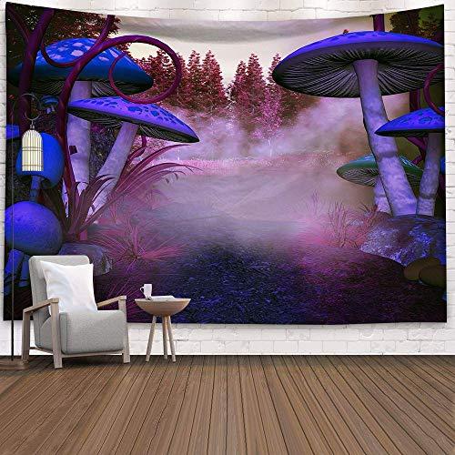 KHKJ Hippy psicodélico Tapiz de Hongos de ensueño hogar Dormitorio Cuento de Hadas Abstracto Tapiz Colgante de Pared decoración Toalla de Playa A14 200x150cm