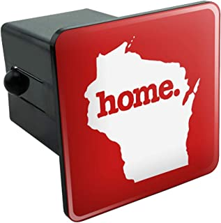 Graphics and More Wisconsin WI Home State Solid Red Officially Licensed Tow Trailer Hitch Cover Plug Insert 2