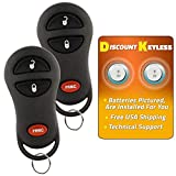 Discount Keyless Entry Remote Car Key Fob Compatible with Durango Dakota Ram 04686481 (2 Pack)