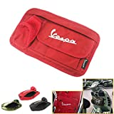 Motorcycle saddlebags Motorcycle Saddle Luggage bags Storage bag Decorate Glove Case Box for Vespa GTS LX LXV Sprint Primavera 50 125 250 300 300ie 250ie motorcycle accessories (Red)