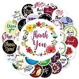 Pegatinas decorativas corazón cálido Gracias etiqueta Inglés recompensa regalo Acción de Gracias mano cuenta impermeable pegatinas 60PCS