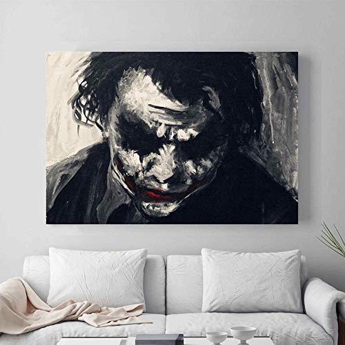 Joker Nordic silhouet canvas kunstdruk schilderij posters, aquarel wandschilderijen voor de kamer Home Decoration, wanddecoratie 50x65cm