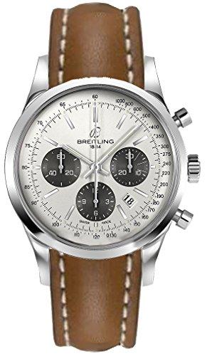 Breitling Transocean Chronograph/orologio uomo/quadrante argentato...