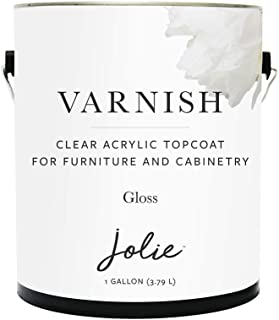 Jolie Varnish - Clear Acrylic Topcoat for Chalk Finish Paint - Use Over Jolie Paint, Stained, or raw Wood- Furniture and C...