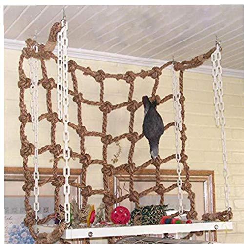 Parrot Kletternetz Tiere Vogel Hanging Cage Seil Mit Schnallen Schaukel Ladder Sittich Wellensittich Palying Spielzeug